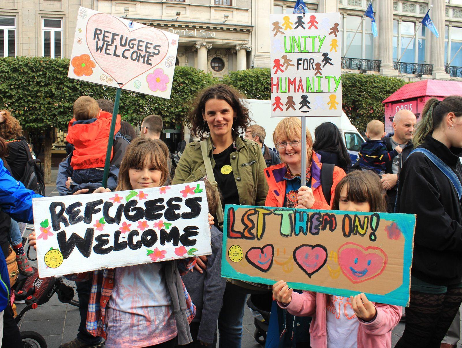 Vox pop: Dublin refugee solidarity rally