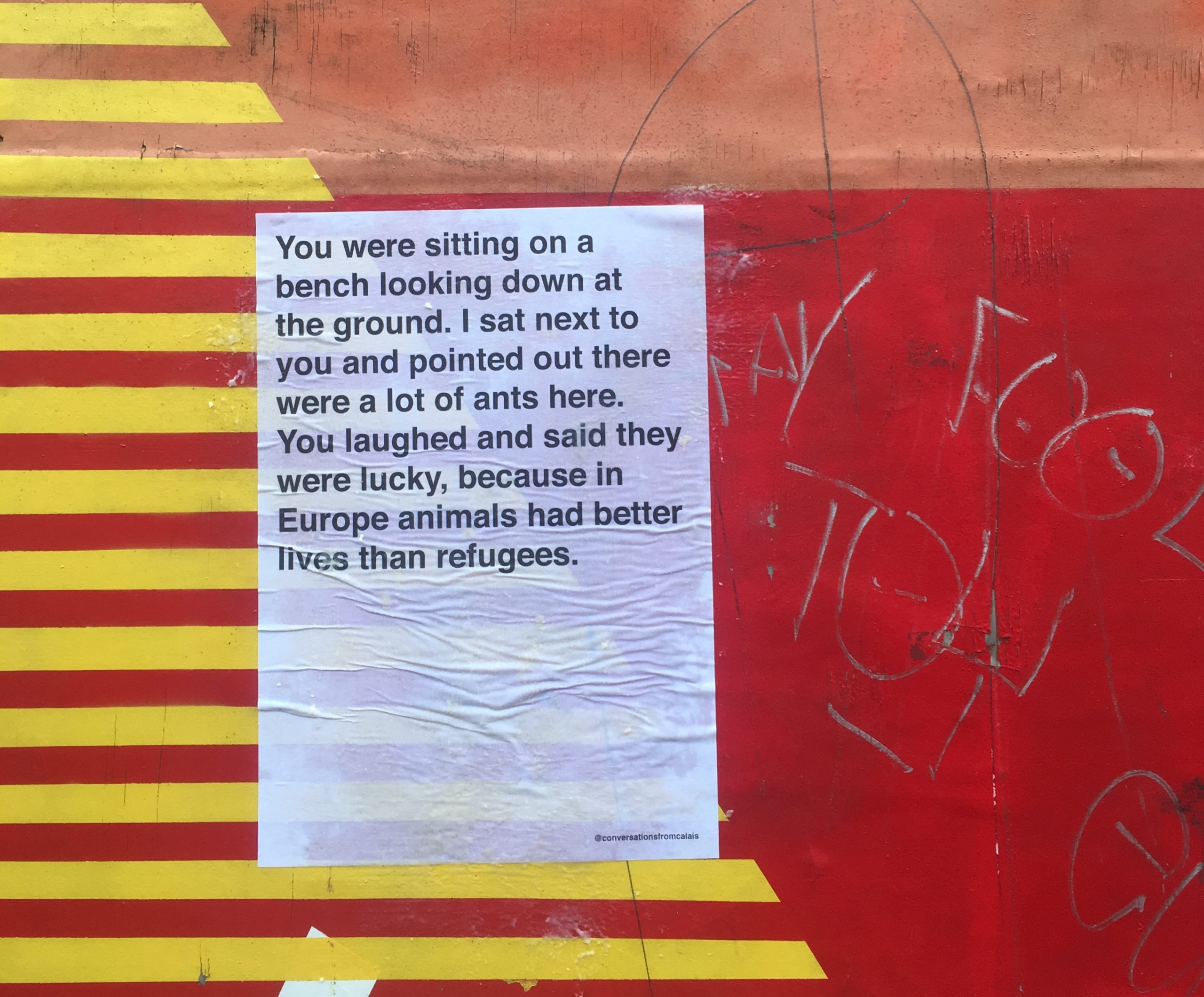Conversations from Calais: The Poster Project Bringing Humanity Back Into the Refugee Crisis