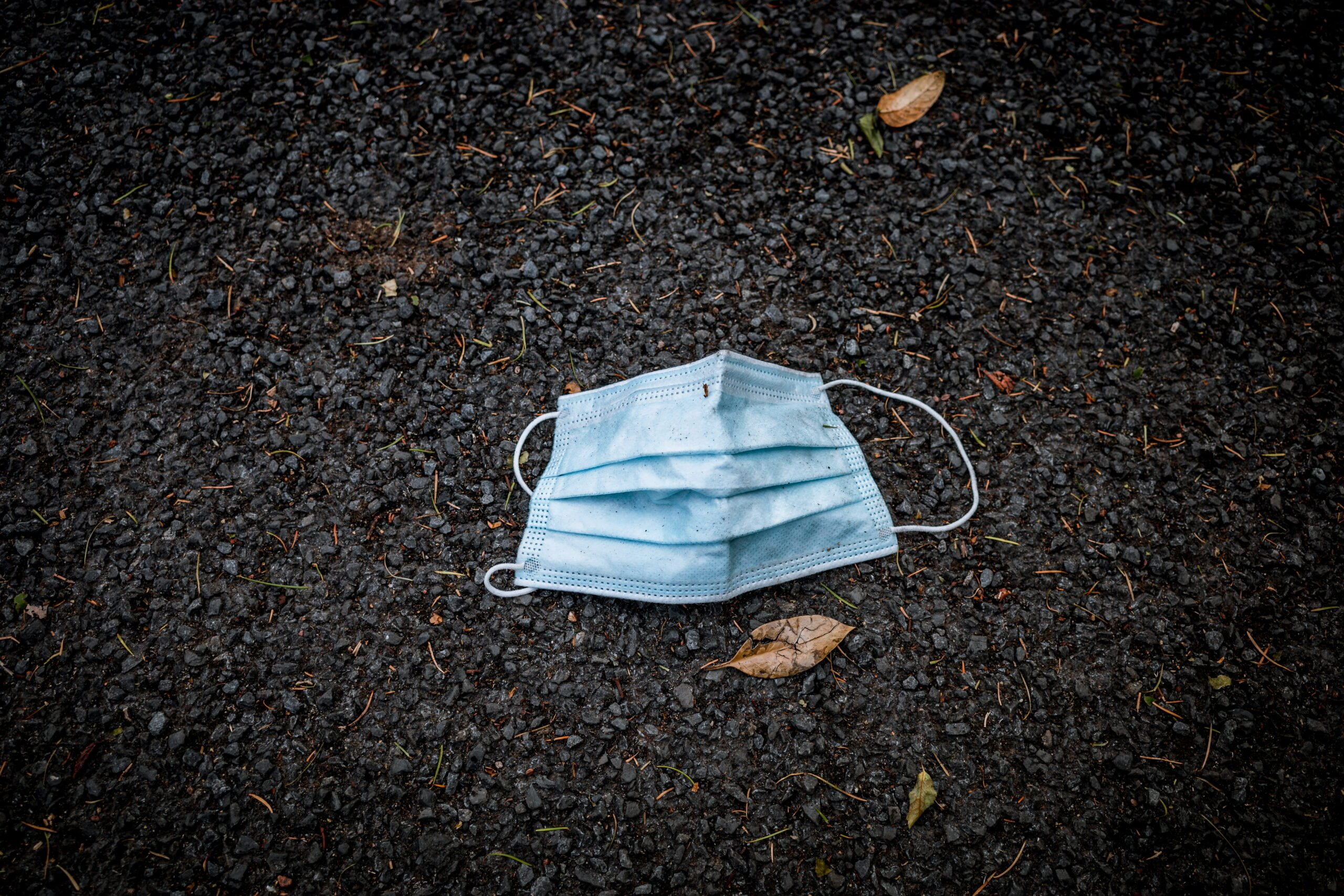 discarded facemask