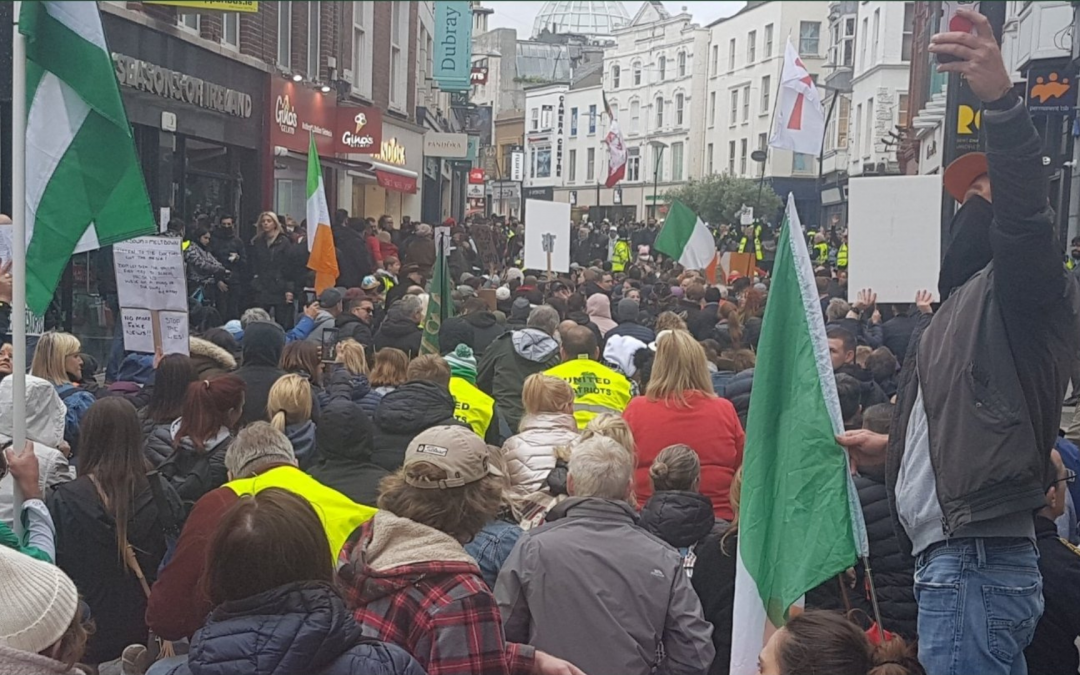 The Far Right Rises – yet another anti-mask protest in the capital