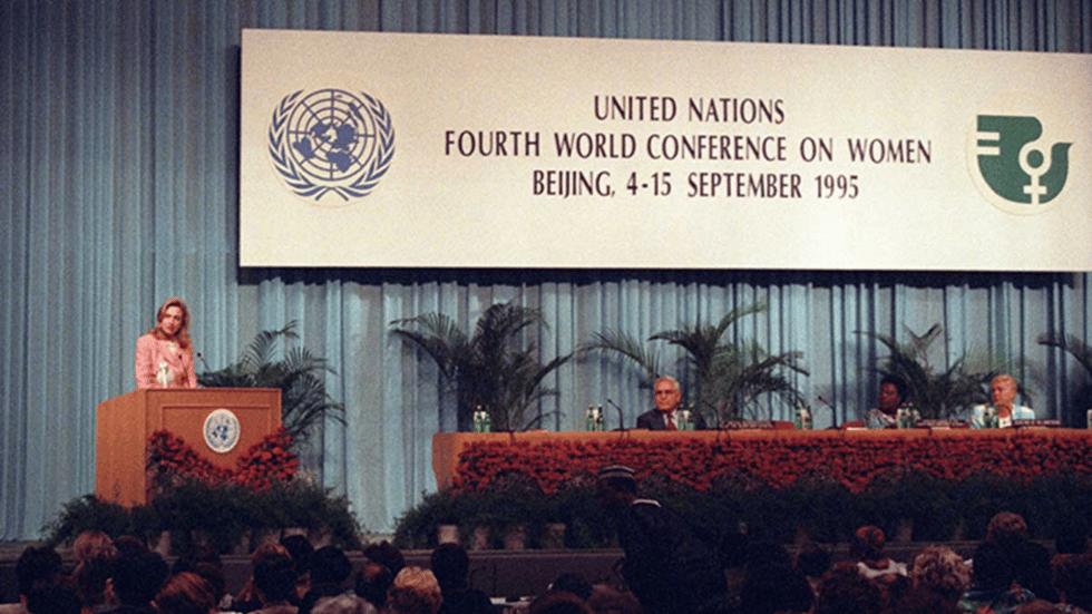 Hillary Clinton at Beijing 25+ 1995