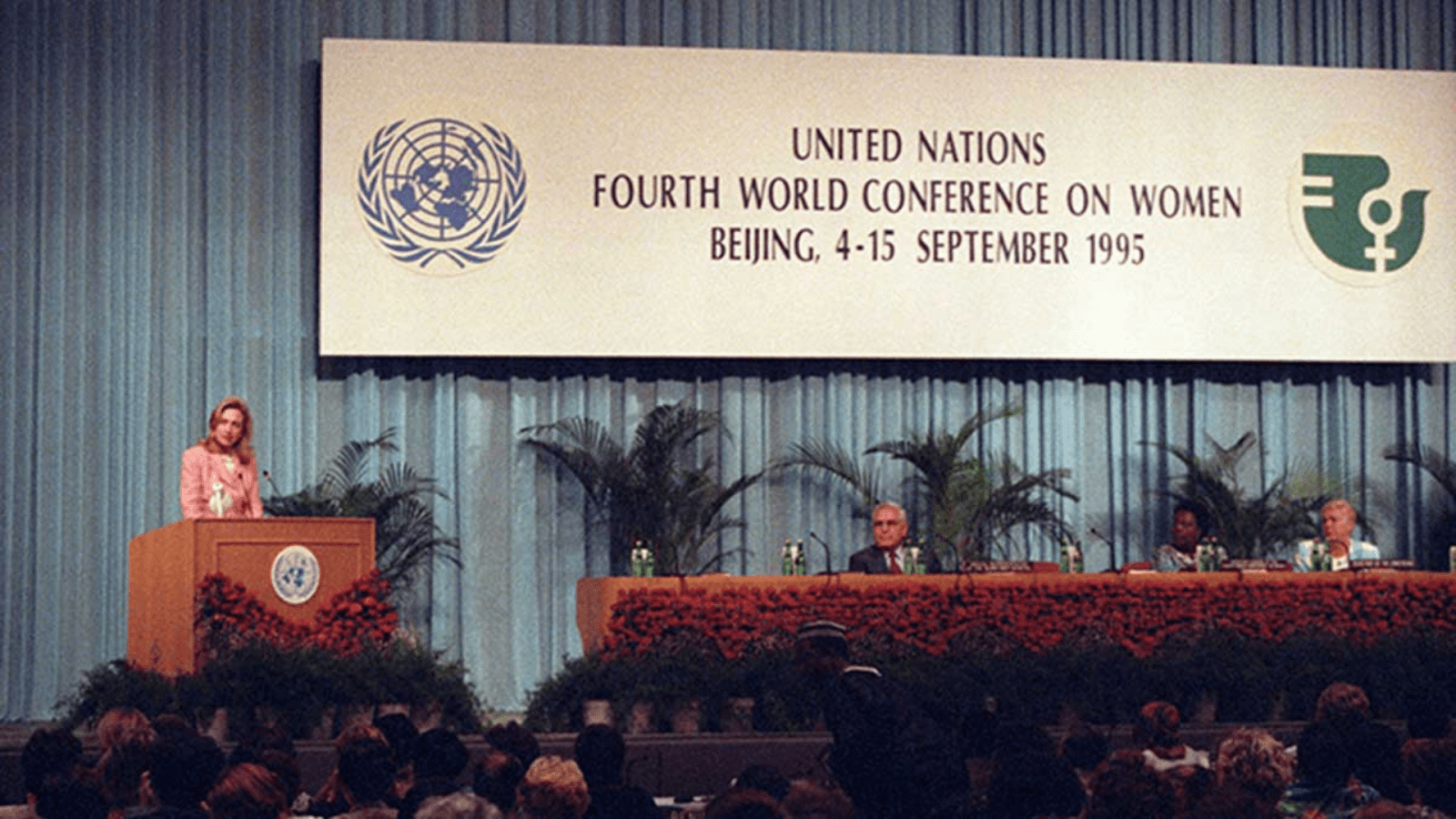 Hillary Clinton at Beijing 25+ 1995