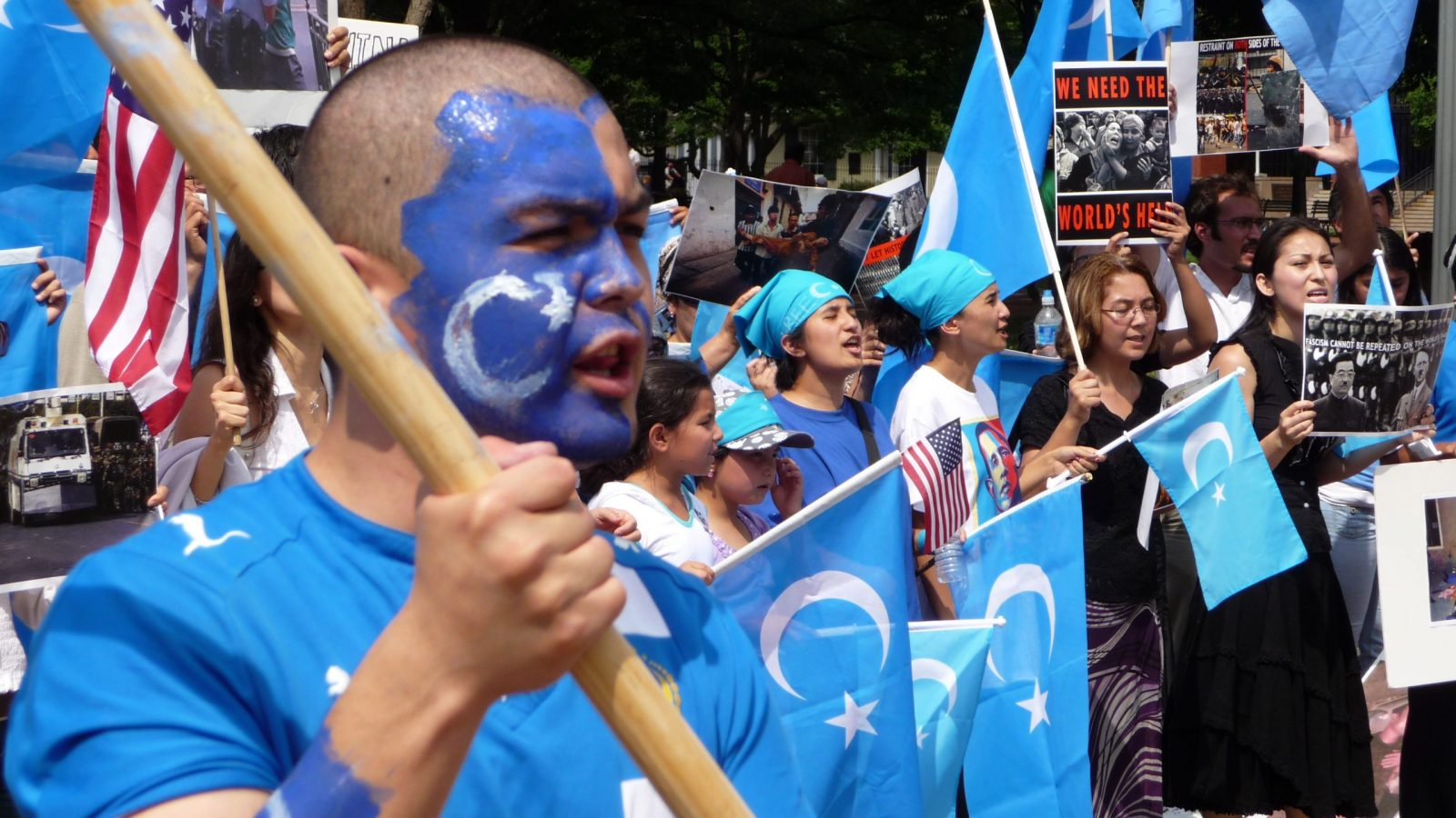 uighur protest in china