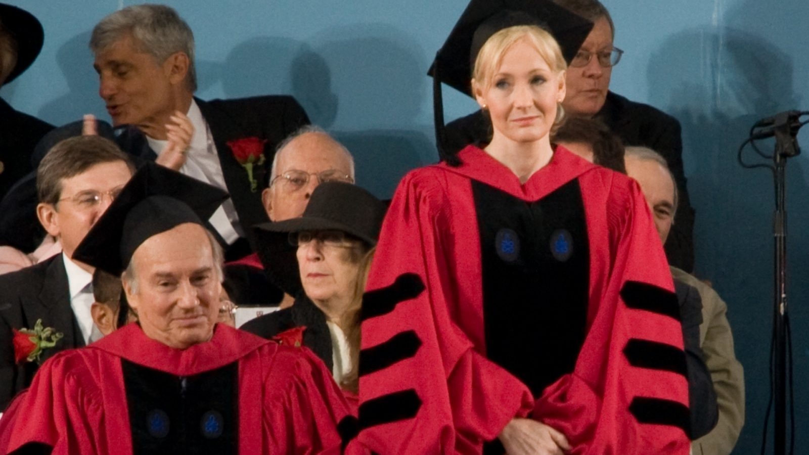 jk Rowling accepting honorary degree