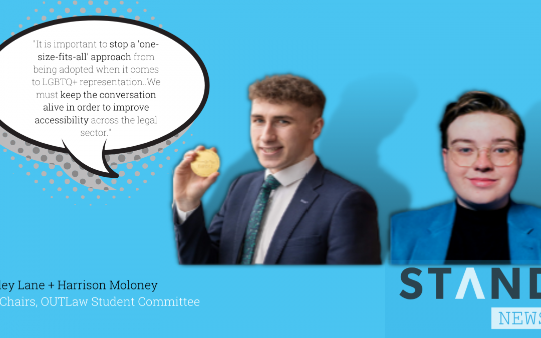 An interview with OUTLaw Student Committee co-chairs Bailey Lane + Harrison Moloney