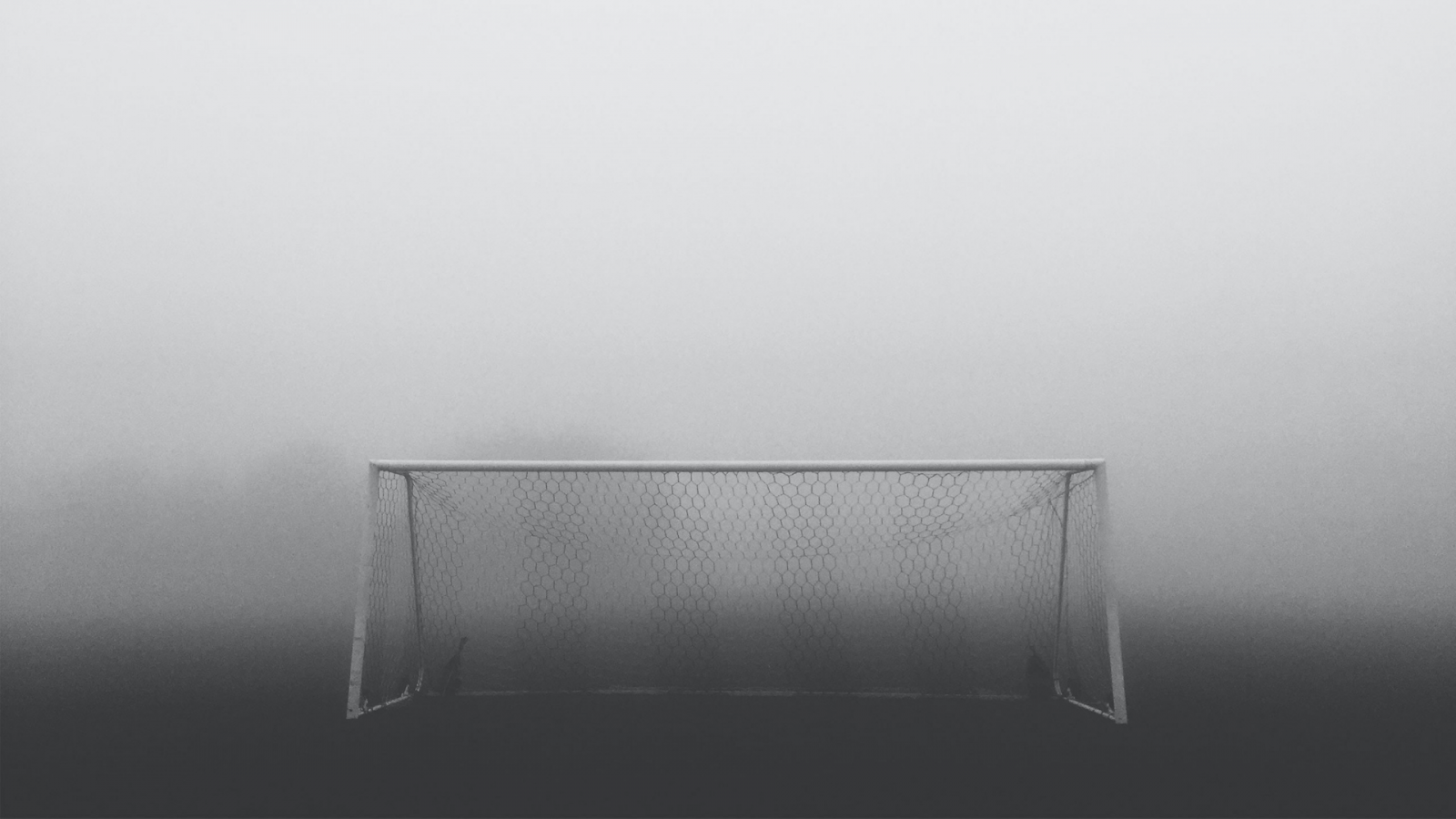 black and white football net