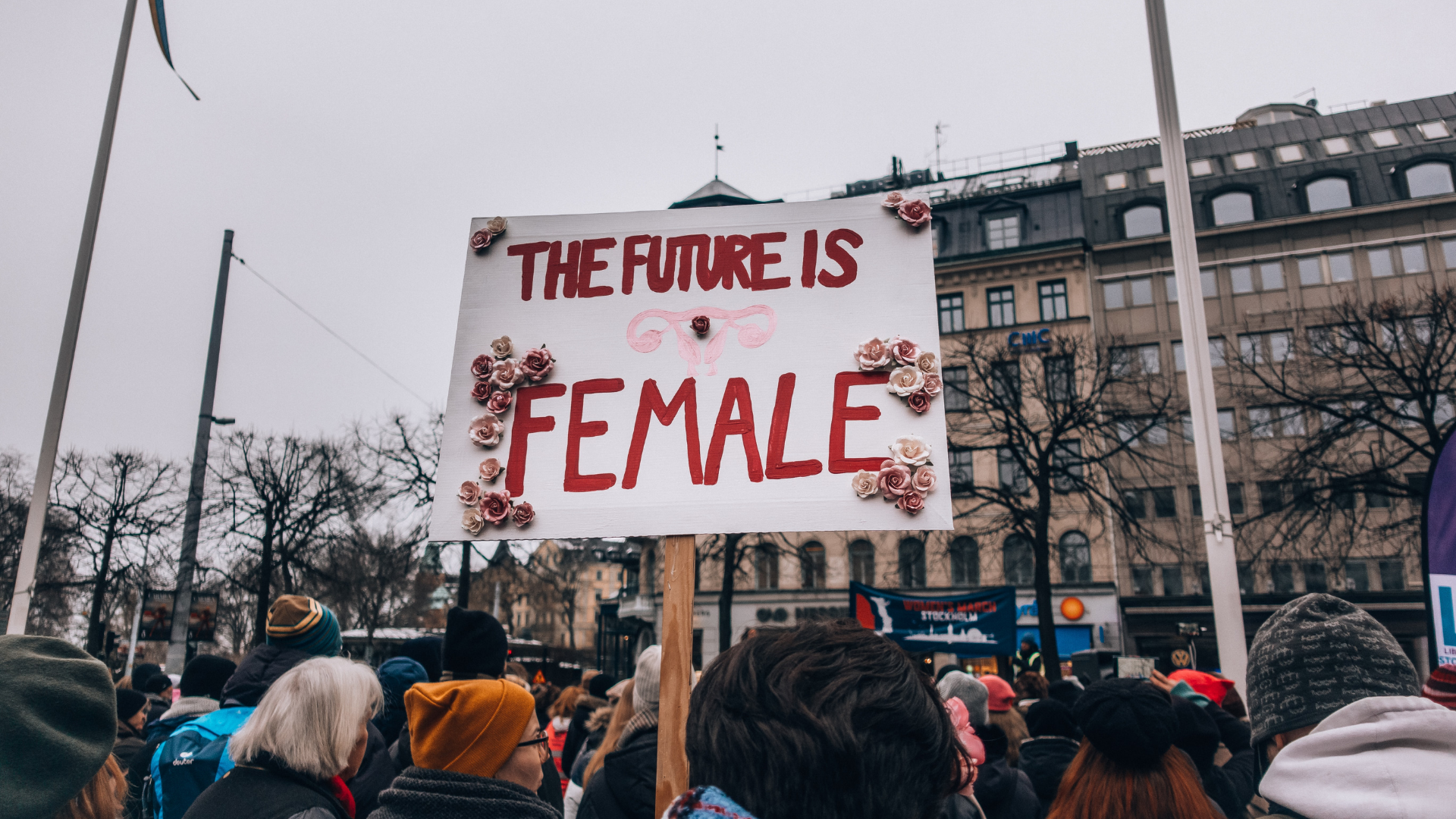 sign saying 'the future is female'