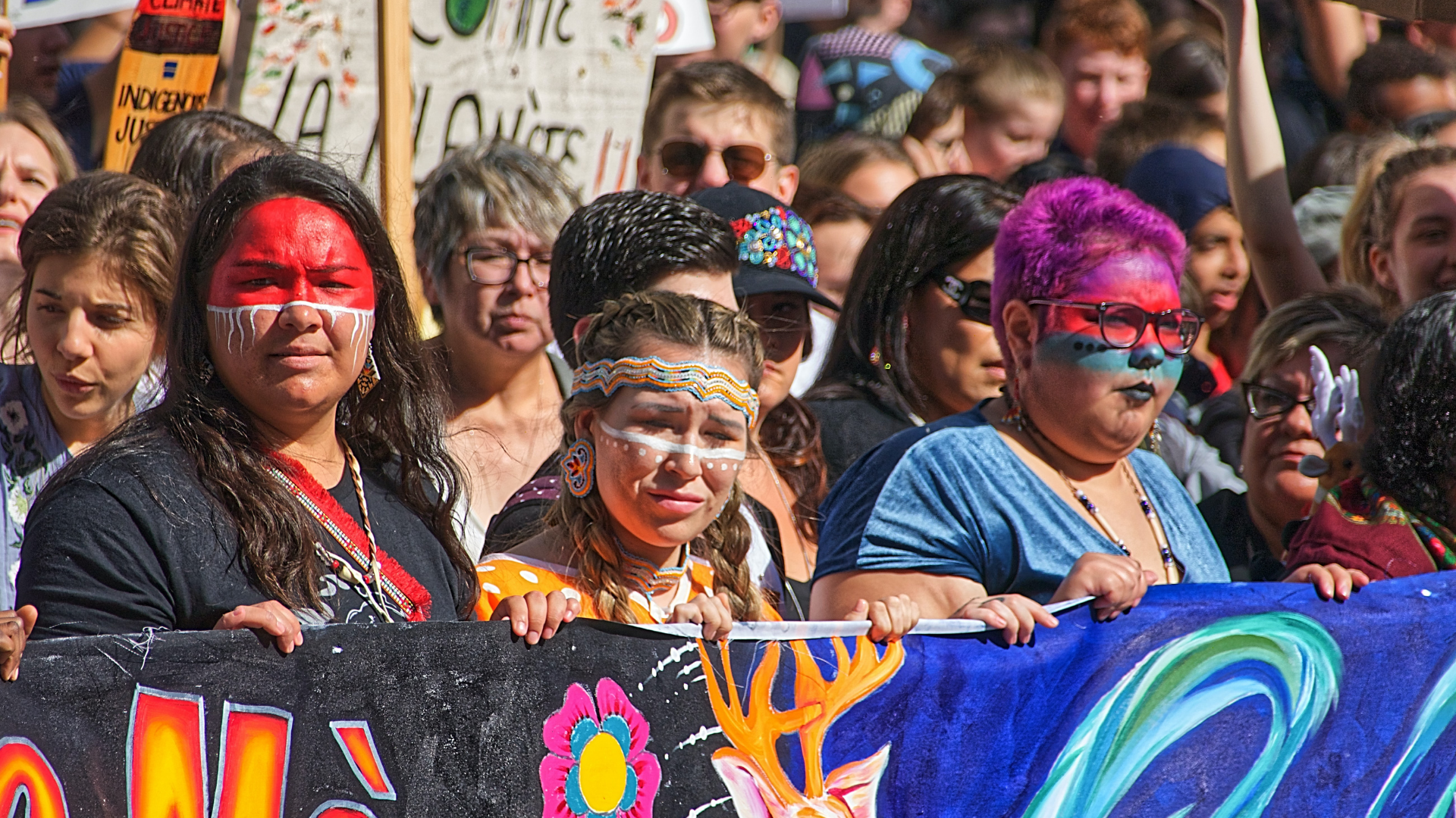 first nations women protesting